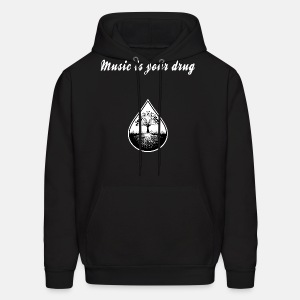 Black and white text and logo hoodie2 - Men's Hoodie