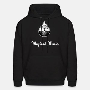Black and white text and logo hoodie - Men's Hoodie