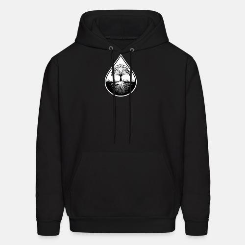Black and white logo hoodie - Men's Hoodie