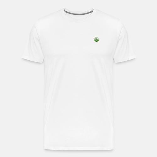 Elite design with light green logo shirt - Men's Premium T-Shirt