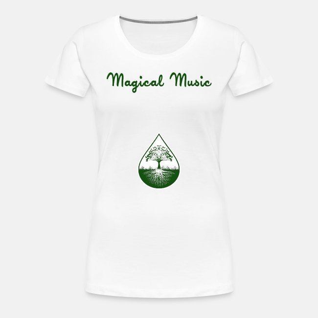 Green text and logo women shirt