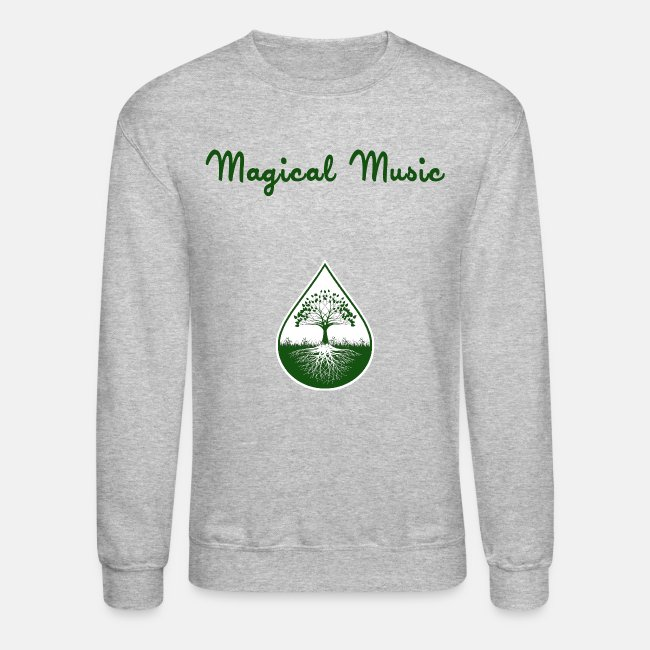 Green logo and text pullover