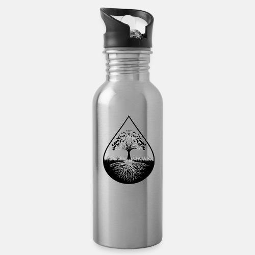 Black logo designed thermal conatiner - Water Bottle