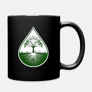 Green logo designed black mug - Full Color Mug