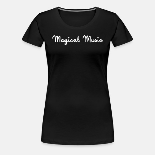 White text women shirt - Women's Premium T-Shirt