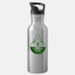 Green logo designed thermal conatiner - Water Bottle