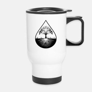 Black logo designed travel mug - Travel Mug