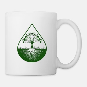 Green logo designed white mug - Coffee/Tea Mug
