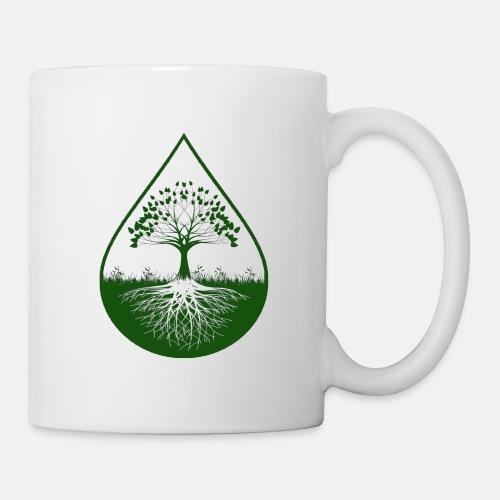 Green logo designed white mug - Coffee/Tea Mug