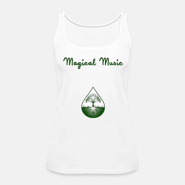 Green logo and text tank