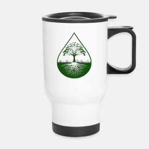Green logo designed travel mug - Travel Mug