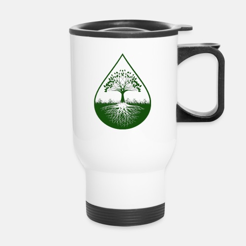 Green logo designed travel mug - Travel Mug