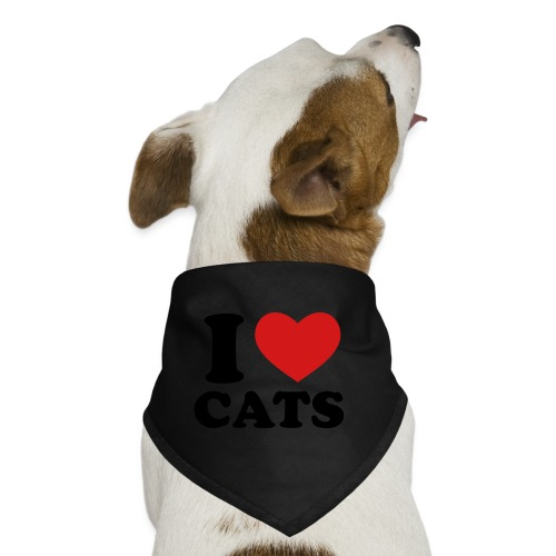 I LOVE CATS - Dog Bandana