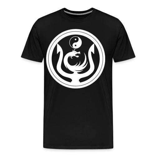 Ying Yang Pitch Fork T-Shirt - Men's Premium T-Shirt