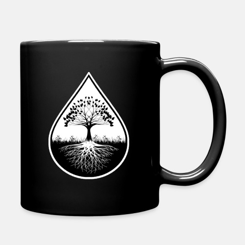 Black logo designed black mug - Full Color Mug