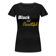 T-Shirts ~ Women's Premium T-Shirt ~ Black and beautiful Fitted classic t-shirt for women