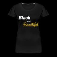 T-Shirts ~ Women's Premium T-Shirt ~ Black and beautiful Fitted classic t-shirt for women