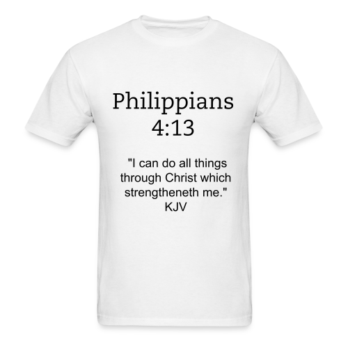 Men's Philippians 4:13 T-Shirt - Men's T-Shirt