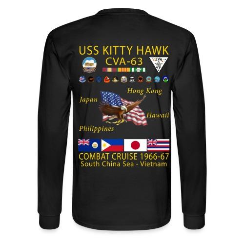USS KITTY HAWK CVA-63 COMBAT CRUISE 1966-67 CRUISE SHIRT - LONG SLEEVE - Men's Long Sleeve T-Shirt