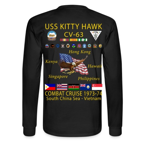 USS KITTY HAWK CV-63 COMBAT CRUISE 1973-74 CRUISE SHIRT - LONG SLEEVE - Men's Long Sleeve T-Shirt
