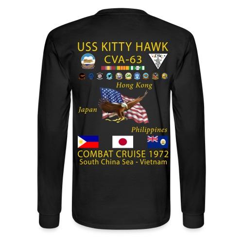 USS KITTY HAWK CVA-63 COMBAT CRUISE 1972 CRUISE SHIRT - LONG SLEEVE - Men's Long Sleeve T-Shirt