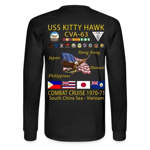 USS KITTY HAWK CVA-63 COMBAT CRUISE 1970-71 CRUISE SHIRT - LONG SLEEVE - Men's Long Sleeve T-Shirt