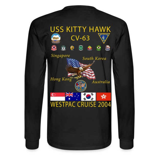 USS KITTY HAWK CV-63 2004 CRUISE SHIRT - LONG SLEEVE