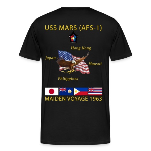 USS MARS 1963 MAIDEN CRUISE SHIRT  - Men's Premium T-Shirt