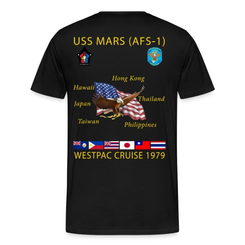 USS MARS 1979 CRUISE SHIRT  - Men's Premium T-Shirt