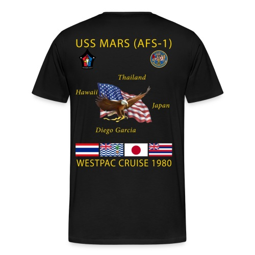 USS MARS 1980 CRUISE SHIRT  - Men's Premium T-Shirt