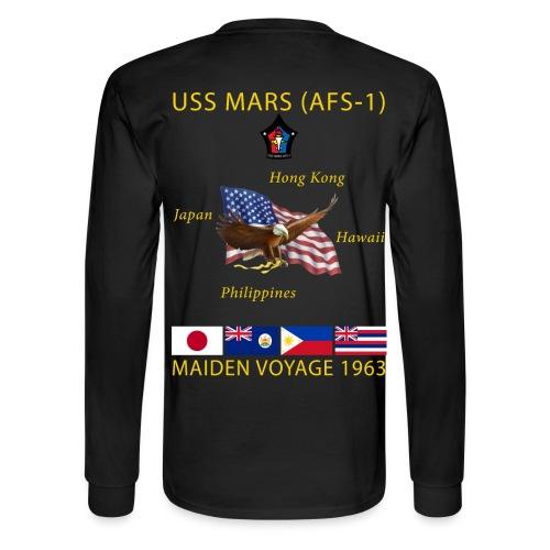 USS MARS 1963 MAIDEN CRUISE SHIRT - LONG SLEEVE - Men's Long Sleeve T-Shirt