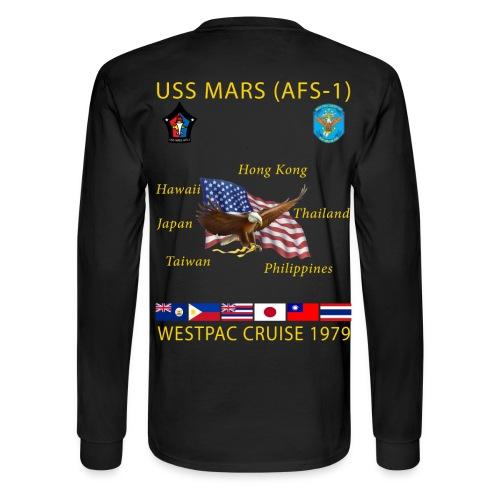 USS MARS 1979 CRUISE SHIRT - LONG SLEEVE - Men's Long Sleeve T-Shirt