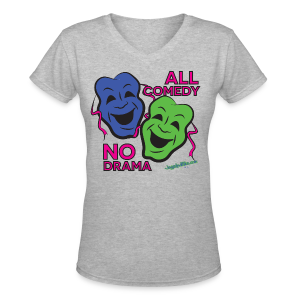 All Comedy - V Neck Women's - Women's V-Neck T-Shirt