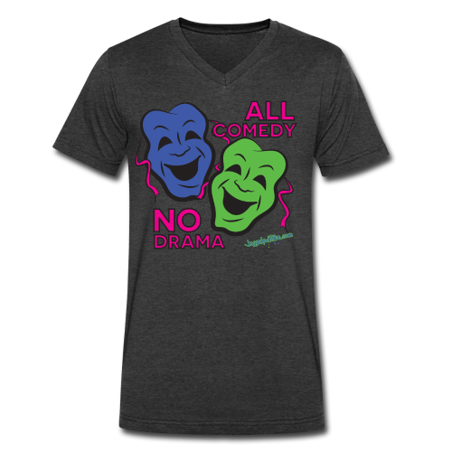 All Comedy - V Neck Men's - Men's V-Neck T-Shirt by Canvas