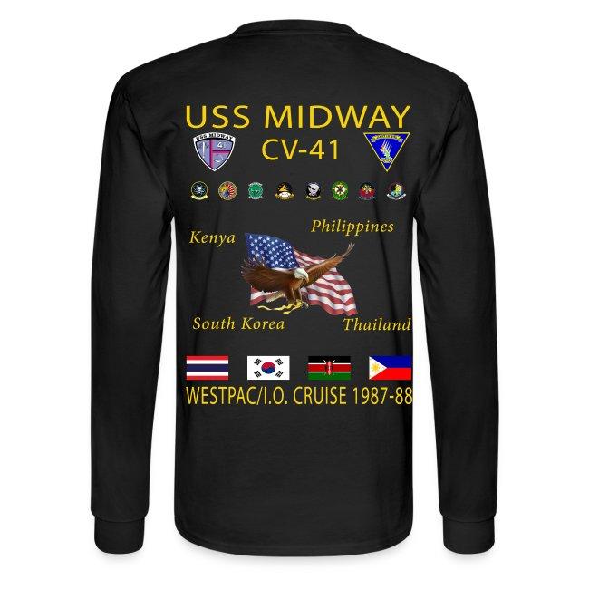USS MIDWAY CV-41 1987-88 CRUISE SHIRT