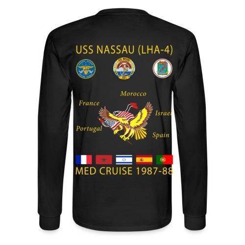 USS NASSAU 1987-88 CRUISE SHIRT - LONG SLEEVE - Men's Long Sleeve T-Shirt