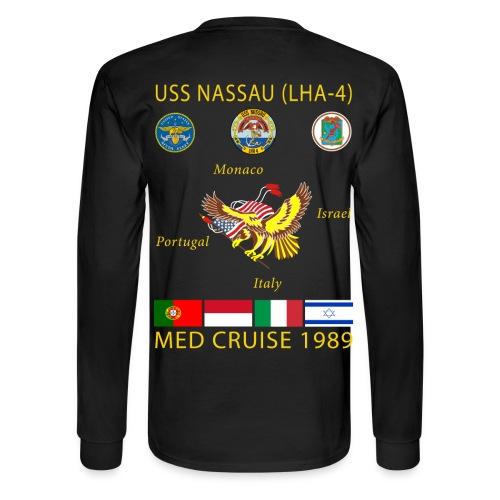 USS NASSAU 1989 CRUISE SHIRT - LONG SLEEVE - Men's Long Sleeve T-Shirt