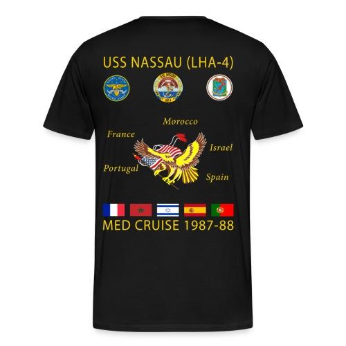 USS NASSAU 1987-88 CRUISE SHIRT - Men's Premium T-Shirt