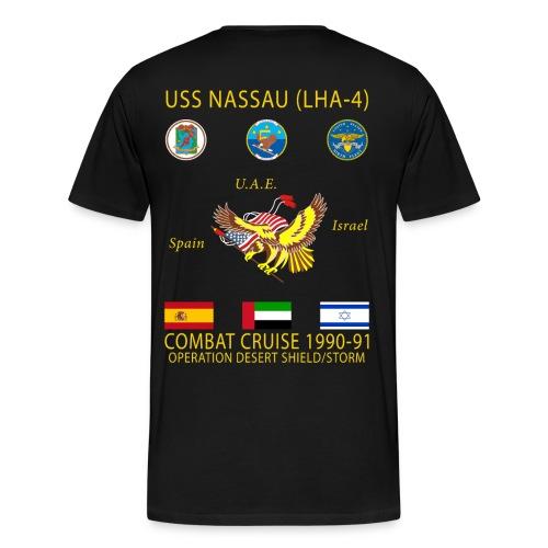USS NASSAU 1990-91 CRUISE SHIRT - Men's Premium T-Shirt