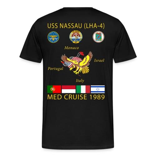 USS NASSAU 1989 CRUISE SHIRT  - Men's Premium T-Shirt