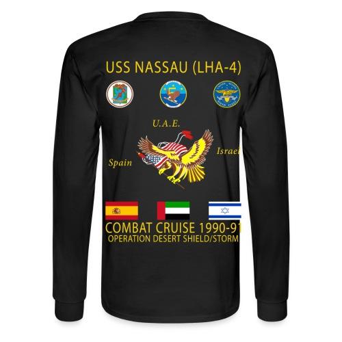 USS NASSAU 1990-91 CRUISE SHIRT - LONG SLEEVE - Men's Long Sleeve T-Shirt