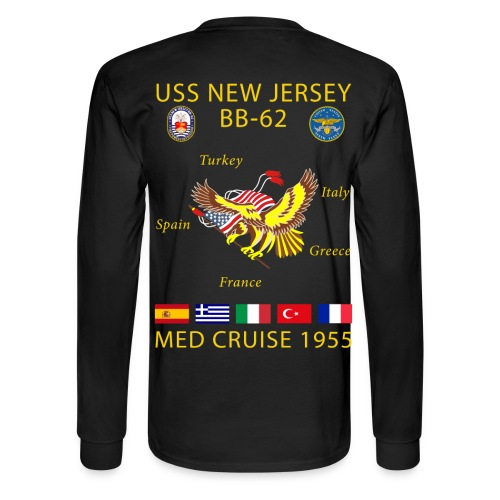USS NEW JERSEY 1955 CRUISE SHIRT - LONG SLEEVE - Men's Long Sleeve T-Shirt