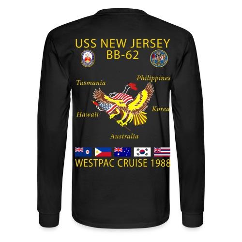 USS NEW JERSEY 1988 CRUISE SHIRT - LONG SLEEVE - Men's Long Sleeve T-Shirt