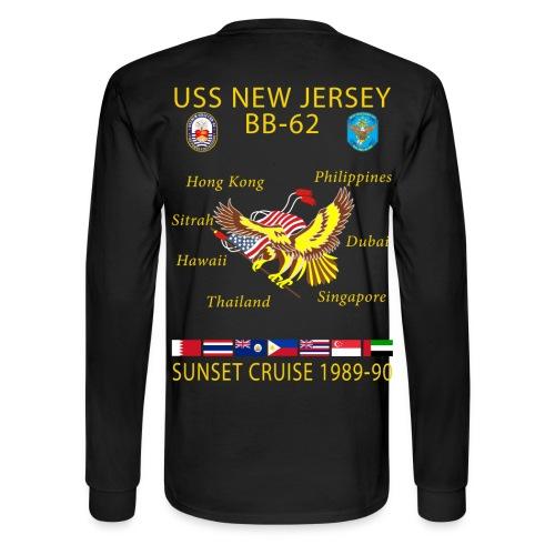 USS NEW JERSEY 1989-90 CRUISE SHIRT - LONG SLEEVE - Men's Long Sleeve T-Shirt