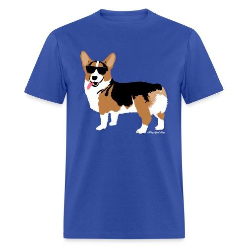 Men's Giant Corgi T-Shirt (no text), Royal Blue - Men's T-Shirt