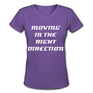 MOVING - Women's V-Neck T-Shirt