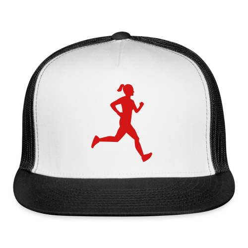 runner girl hat - Trucker Cap