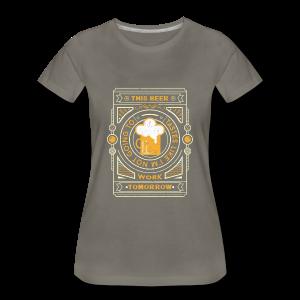 this beer tastes like.... - Women's Premium T-Shirt