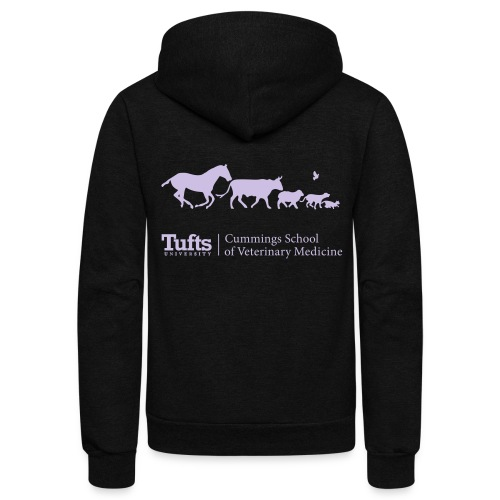 Running Animals (Lavender)  Zip-Up - Unisex Fleece Zip Hoodie