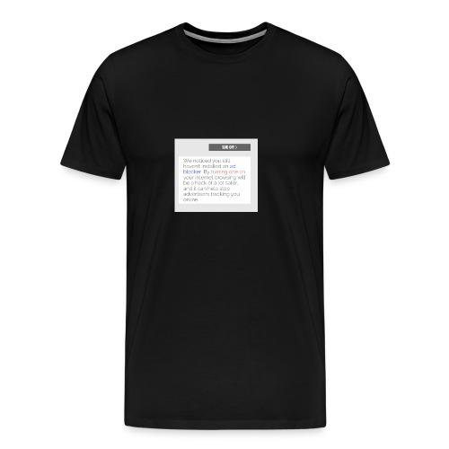 Ad blocker - Men's Premium T-Shirt